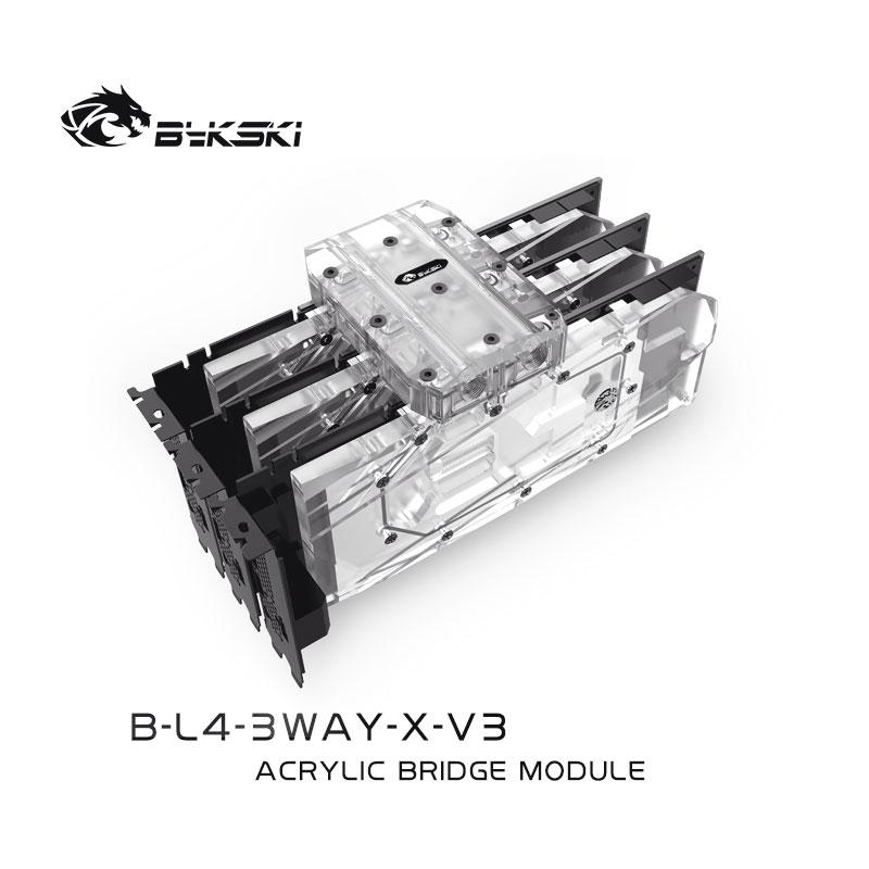 Bykski B-L4-3WAY-X-V3 BRIDGE MODULE  Transparent Connect multiple graphics cards