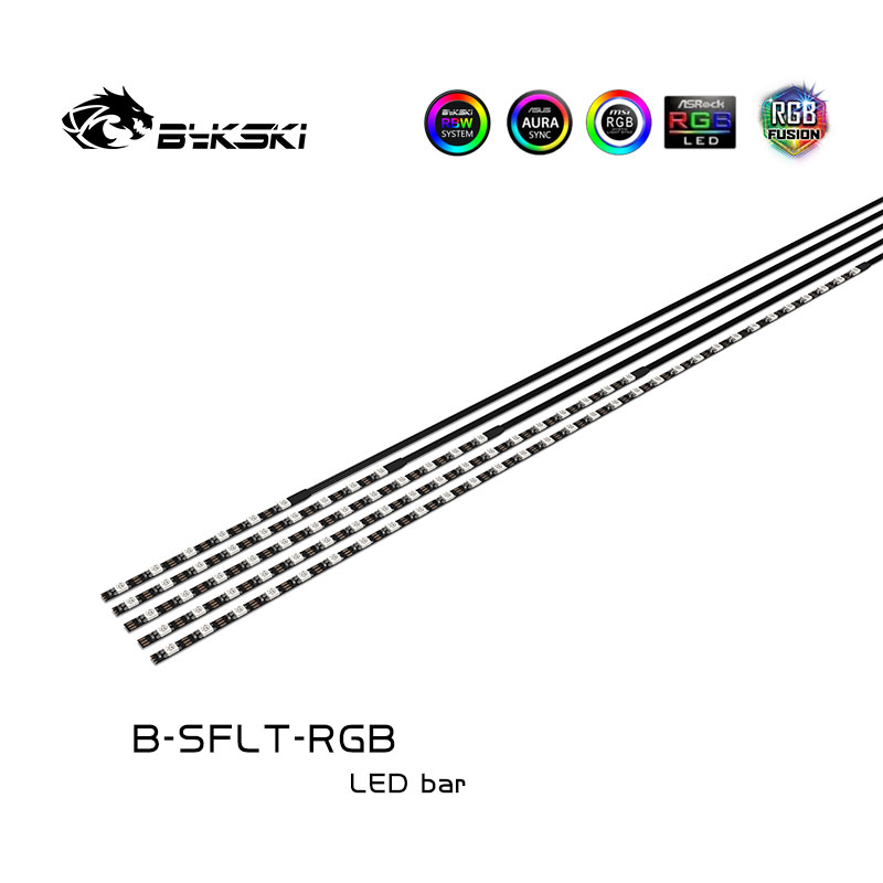 Bykski B-SFLT-RGB 12V RGB light strip LED water-cooled headlight motherboard synchronization