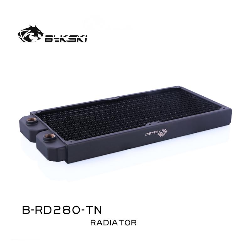 Bykski B-RD280-TN 280 pure copper water cooling row thin row radiator 14CM fan