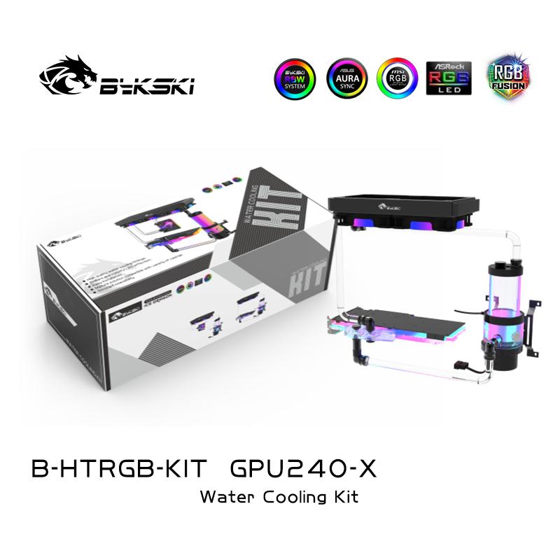 Bykski B-HTRGB-KIT Split Hard Tube Water Cooling Kit Cooling CPU Graphics Card