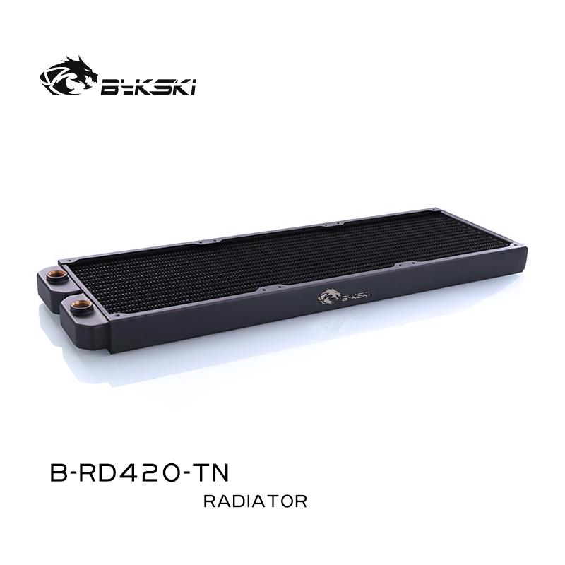 Bykski B-RD420-TN  420 copper radiator 14CM fan use copper single layer water cooling row