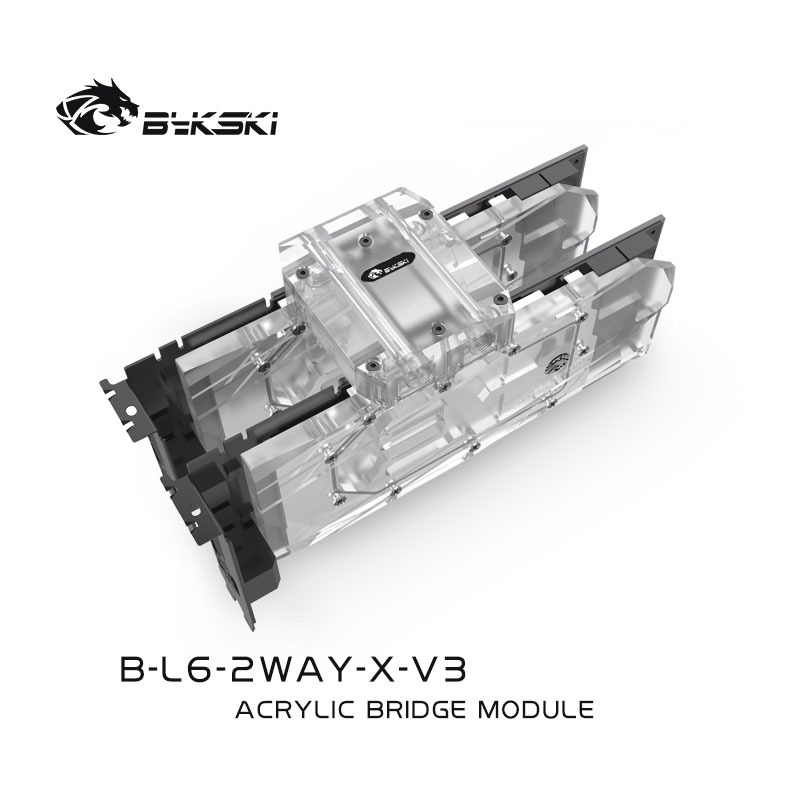 Bykski B-L6-2WAY-X-V3 BRIDGE MODULE  Transparent Connect multiple graphics cards