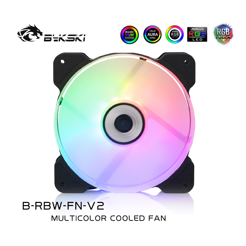 Bykski B-RBW-FN-V2 LED Glare RBW Symphony 12CM High-volume computer silent cooling fan