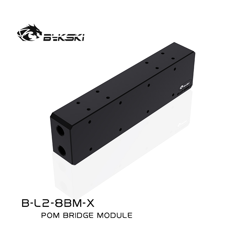 Bykski B-L2-8BM-X server bridge module with eight graphics cards in parallel with square heads