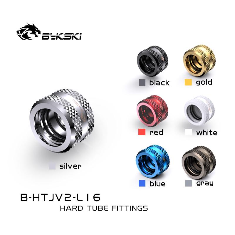 Bykski B-HTJV2-L16 16mm fine diamond pattern hard tube fast screw G1/4 thread 4 layer seal