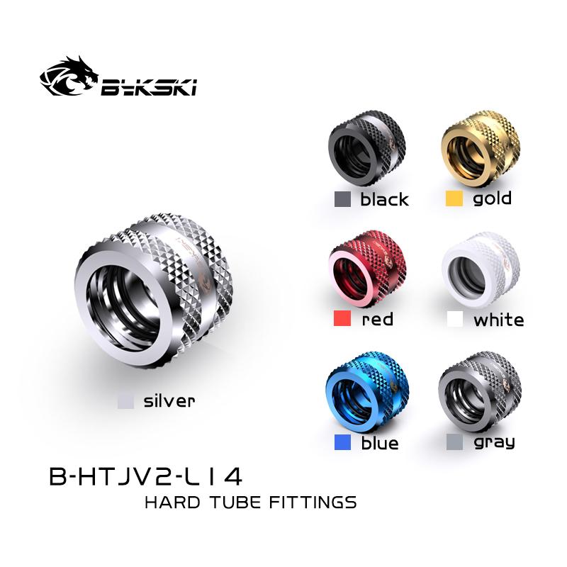 Bykski B-HTJV2-L14 14mm fine diamond pattern hard tube fast screw G1/4 thread 4 layer seal ring